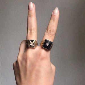 Harley-Davidson Jewelry - 10k Onyx & pavè diamond signet ring ✔️ final drop